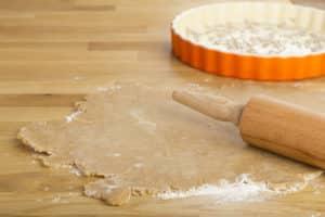 Teig für Quicheform zubereiten
